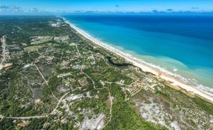 Vista área de Imbassaí - Nilton Souza